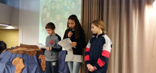 L'Else, la Nora i en Nil explicant l'objectiu i el treball fet del CIB