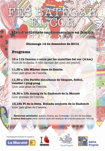 Cartell La Marató 2014 Escola Progrés