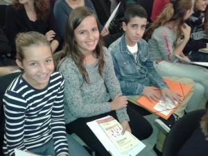 La Júlia, la Rita i en Marc 20.11.2014 constitució CNIAC