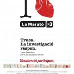 Cartell del CIB i La Marató de TV3 2014
