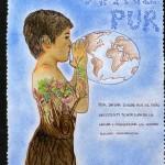 Pòster guanyador del concurs de dibuix organitzat per la Barcelona World Race (Alèxia Surrallés) (Col·legi Badalonès) (2.3.2015)